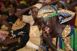 Chibok Parents In Tears During Meeting With Buhari (See Photos)