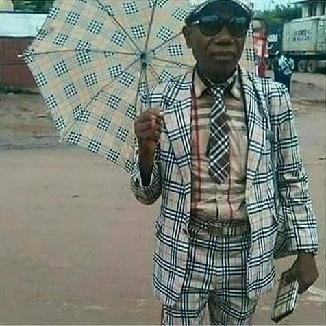 Photo: This gentleman is a big fan of matching outfits.
