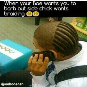 PHOTOS: When Your Bae Wants You To Barb But Side Chicks Want Braids