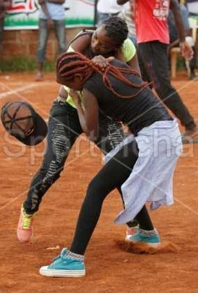Photos: 2 women exchange blows over a man during a football match in Kenya