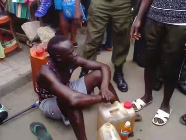 Fuel Scarcity: Man Caught Selling Kerosene Mixed With Palm Oil As Fuel