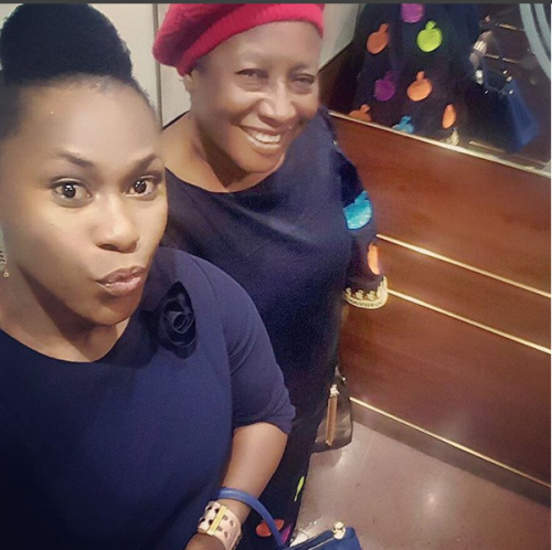 Uche Jombo Shares Lovely Selfie With Patience Ozokwor.
