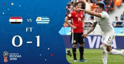 World Cup: Egypt 0 – 1 Uruguay (Watch Highlights)